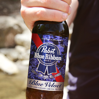 Pabst Blue Ribbon Blue Velvet 30th Anniversary David Lynch